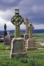 A collection of Celtic crosses at Castle. (Allan Lynch Photo)